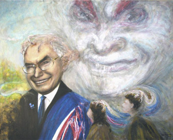 Robert Bosler's painting 'False Prophet', the painting of John Howard