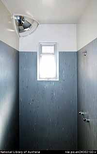 A shower in the infamous Baxter detention centre's isolation unit