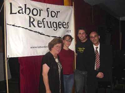 Dr Carmen Lawrence with representatives of Labor for Refugees Victoria