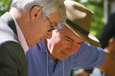 Julian Burnside QC and Fr Frank Brennan, scheming together for a better and different Australia?