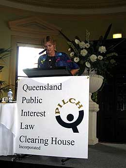 Christina Rau delivers the QPILCH Public Interest Lecture 2005