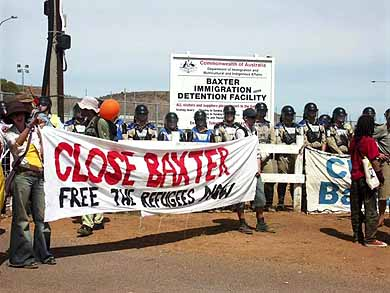 Close Baxter - protesters demanding the closure of Baxter during Easter 2005