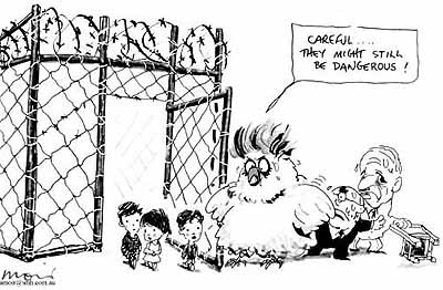 Ruddock, Howard and Vanstone and their fear of children in detention