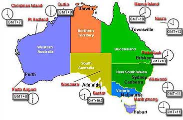 Map of Australian detention centres, made in April 2002