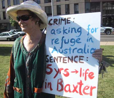 Protesting Australia's cruel refugee treatment