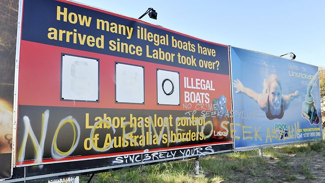The Liberal Boats Billboard had its information adjusted during the night of April 22, 2013