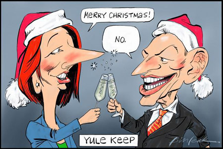 Julia Gillard and Tony Abbott in secret Christmas agreement