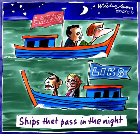 The political ships that pass in the night