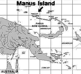 map of Manus Island