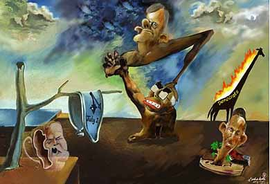 Society's structures melting and distorting: Salvador Dali's prophecy becomes reality in Australian politics