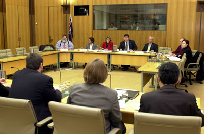 A Parliamentary Committee in session