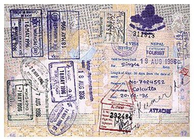 A Passport with Visa Stamps