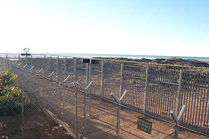 Looking out from the Port Hedland detention Centre