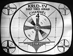 Television test pattern of the 1950s