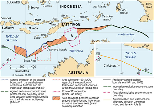 Maritime Boundaries between Australia and Indonesia