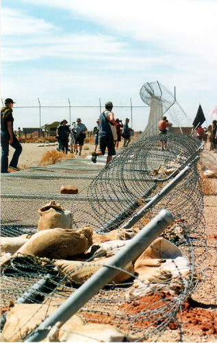 The gates come down during the Woomera convergence