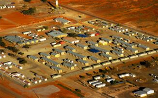 The Woomera detention centre, seen from the air
