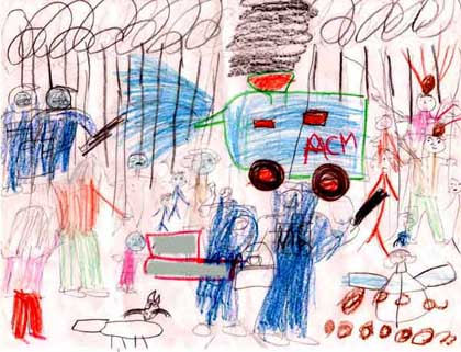 The Drawing of a child refugee in the Woomera detention centre