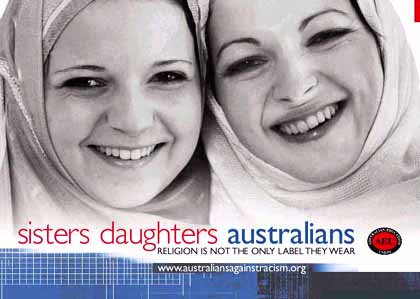 Australians Against Racism poster