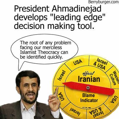 ahmadinejad thanks to berryburgercom