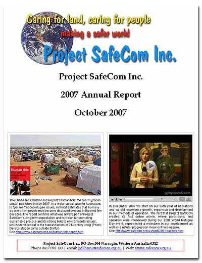 The Project SafeCom 2007 Annual Report
