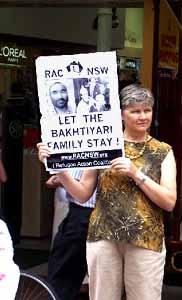 Sydney RAC Bakhtiyari protest Christmas 2004