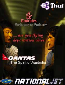 Are you flying deportation class?