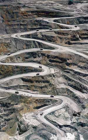 Grasberg Mine in West Papua