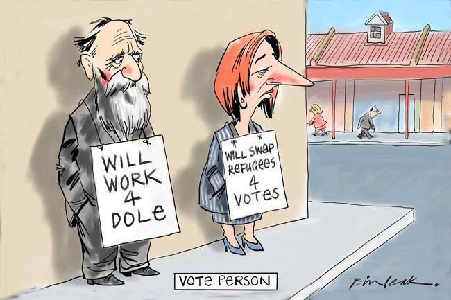 Gillard becomes the broke Vote Person