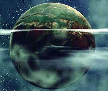 An artists impression of the Green Planet