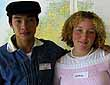 Local girl Grace Herbert with one of the Vietnamese boys
