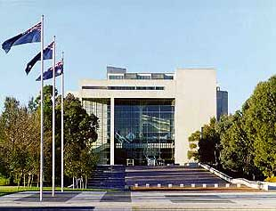 The Australian High Court, located within the Parliamentary Triangle in Canberra, has so far been unable to resolve the appaling Australian injustice of indefinite mandatory detention