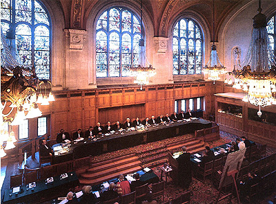 Courtroom in The International Court of Justice in The Hague