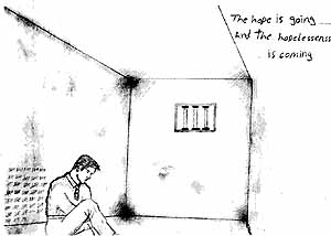 hope is going, hopelessness is coming: a detainee in dark isolation in Juliet Block, Port Hedland detention centre