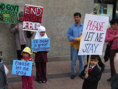 Children protest against TPV's