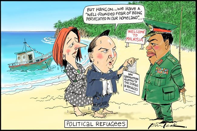 Gillard and Bowen, political refugees