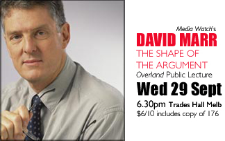 David Marr, the Overland Lecture 2004