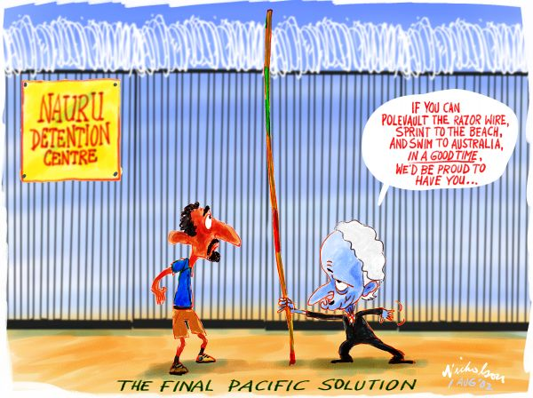 Phillip Ruddock's advice on how to enter Australia from the Nauru detention centre