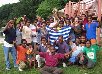 Joy amongst 42 West Papuans on Christmas Island when they had received the news of their visas in March 2006