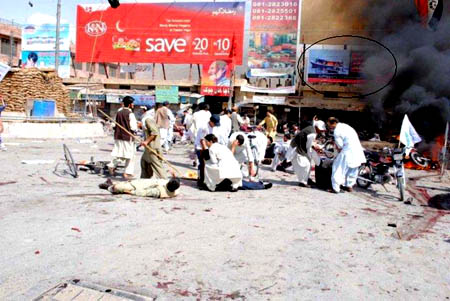 Stunned and in shock following the suicide bomber attack in Quetta