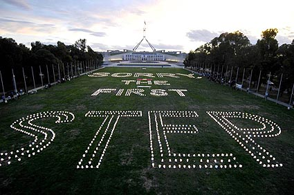 The Australian Parliament under Kevin Rudd says sorry to Indigenous people