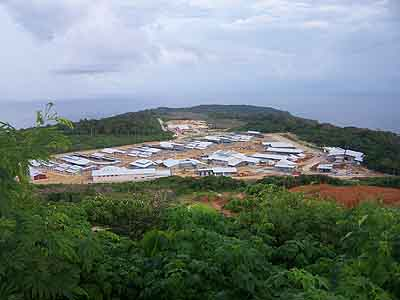 The Christmas Island Detention centre, building completion as in February 2007