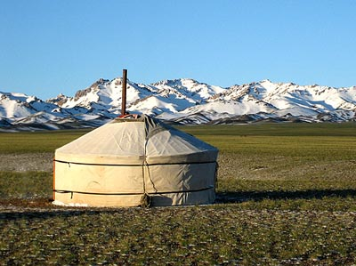 a Yurt or Mogolian Ger & Mongolian Gers or Yurts: heritage of nomadic peoples